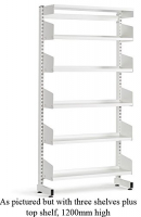 LibraryShelvingSingleSided3ShelfWhite
