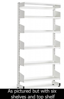 LibraryShelvingSingleSided6ShelfWhite